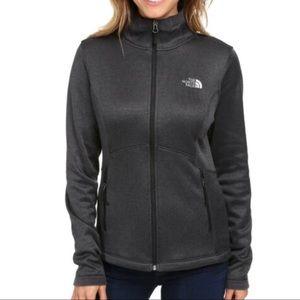 The North Face Agave Fleece Zip Jacket Gray-XXL